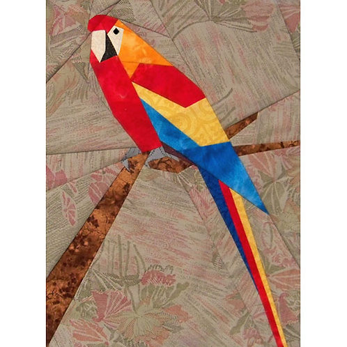 Parrot Paper-pieced Quilt Pattern by Paper Panache