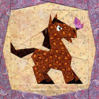 Little Horsey Paper-pieced Quilt Pattern by Paper Panache