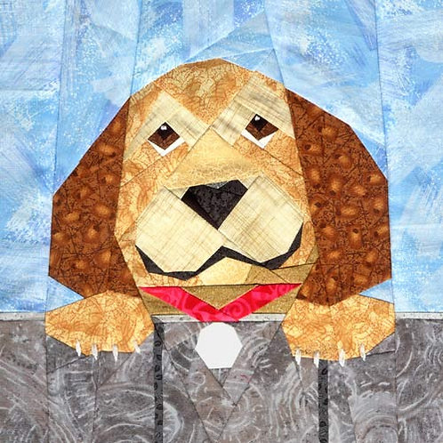 Sidney the Dog Paper-pieced Quilt Pattern by Paper Panache