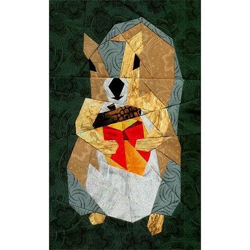 Little Giftie (Squirrel) Paper-pieced Quilt Pattern by Paper Panache