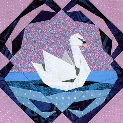 Serene Swan Paper-pieced Quilt Pattern by Paper Panache