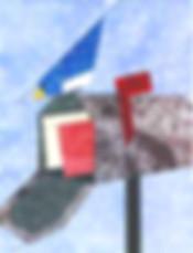 Bird on a mailbox