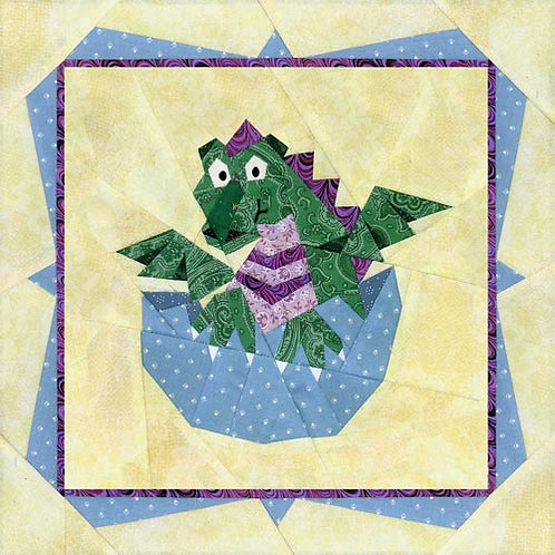 Baby Dragon with Border