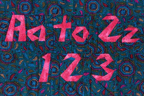 A to Z, 1-2-3 alphabet Paper-pieced Quilt Pattern by Paper Panache