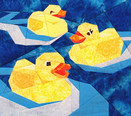Rubber Duckies Paper-pieced Quilt Pattern by Paper Panache