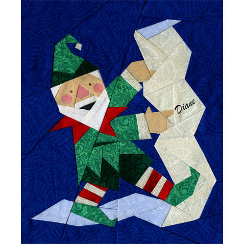 Elfie and the List Paper-pieced Quilt Pattern by Paper Panache