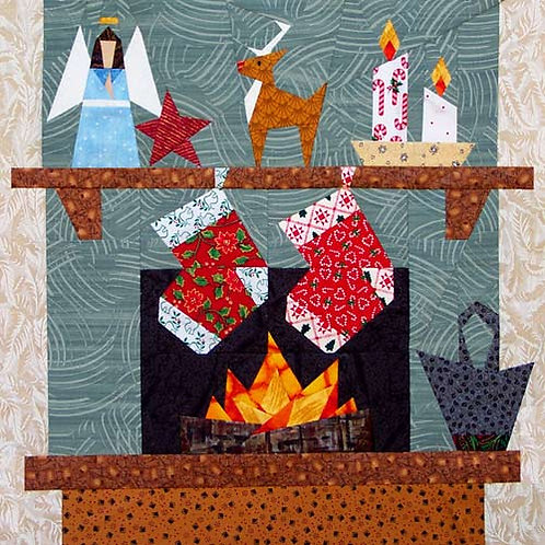 Christmas Hearth Paper-pieced Quilt Pattern by Paper Panache