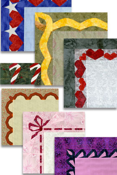 Seven Borders Paper-pieced Quilt Pattern by Paper Panache