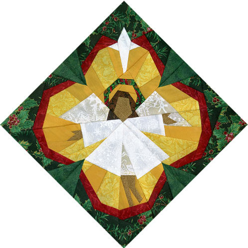 Christmas Angel Paper-pieced Quilt Pattern by Paper Panache