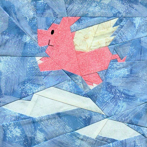 When Pigs Fly Paper-pieced Quilt Pattern by Paper Panache