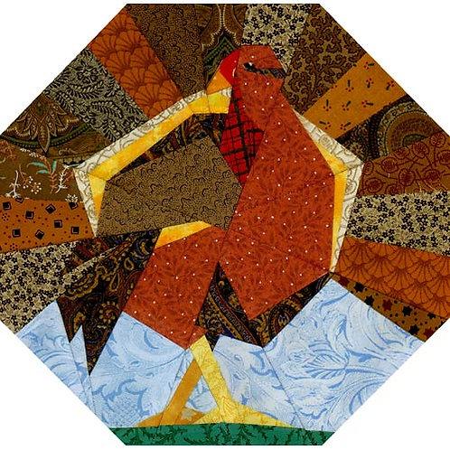 Tom Turkey Paper-pieced Quilt Pattern by Paper Panache