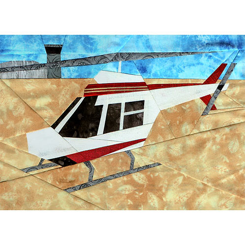Helicopter Paper-pieced Quilt Pattern by Paper Panache