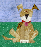 Spot the Dog Paper-pieced Quilt Pattern by Paper Panache