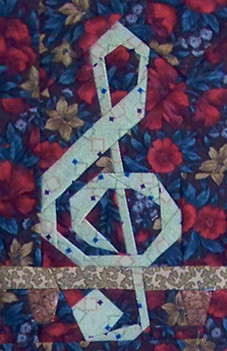 Detail from Violin Paper-Pieced Quilt Pattern by Paper Panache