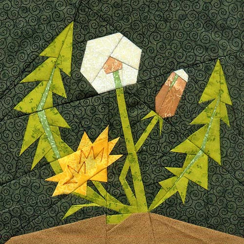 Dandelion Paper-pieced Quilt Pattern by Paper Panache
