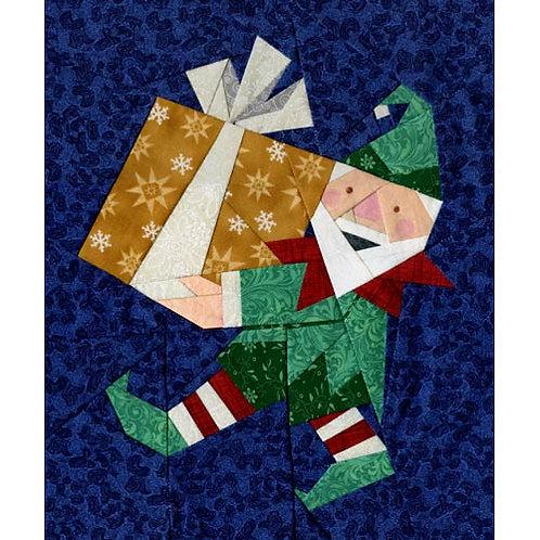 Elfie at Work Paper-pieced Quilt Pattern by Paper Panache