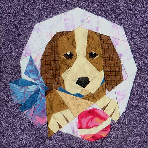 Puppy Dog Paper-pieced Quilt Pattern by Paper Panache