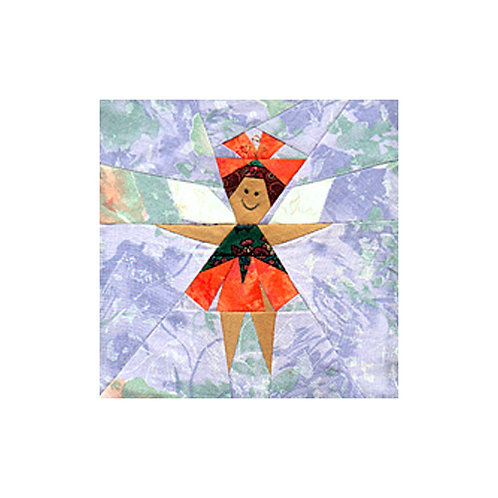 Garden Fairy Block Paper-pieced Quilt Pattern by Paper Panache