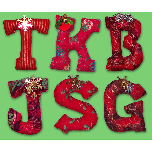 Christmas Initial Ornaments