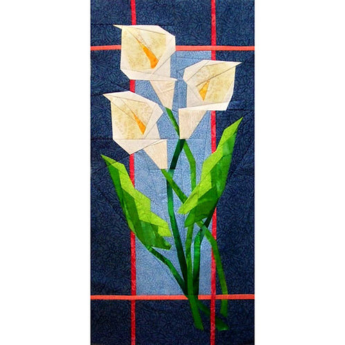 Calla Lilies Paper-pieced Quilt Pattern by Paper Panache