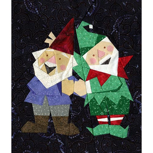Elfie and Gnomeo Paper-pieced Quilt Pattern by Paper Panache