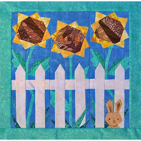 Sunflower Kit Paper-pieced Quilt Pattern by Paper Panache
