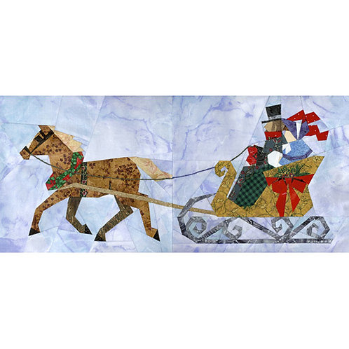 Horse & Sleigh Paper-pieced Quilt Pattern by Paper Panache