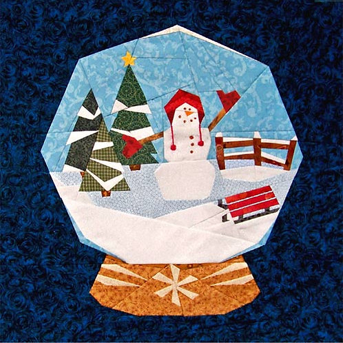 Snowglobe Paper-pieced Quilt Pattern by Paper Panache