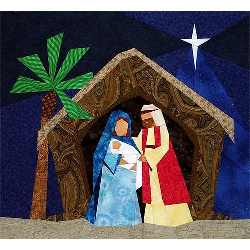 O Holy Night Paper-pieced Quilt Pattern by Paper Panache