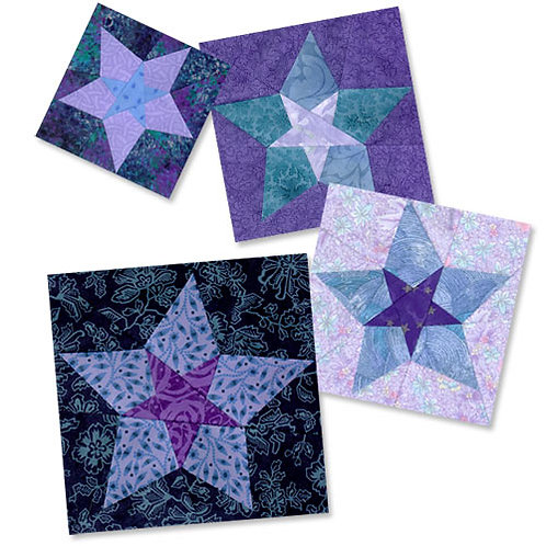 Summer's Evening Star Paper-pieced Quilt Pattern by Paper Panache