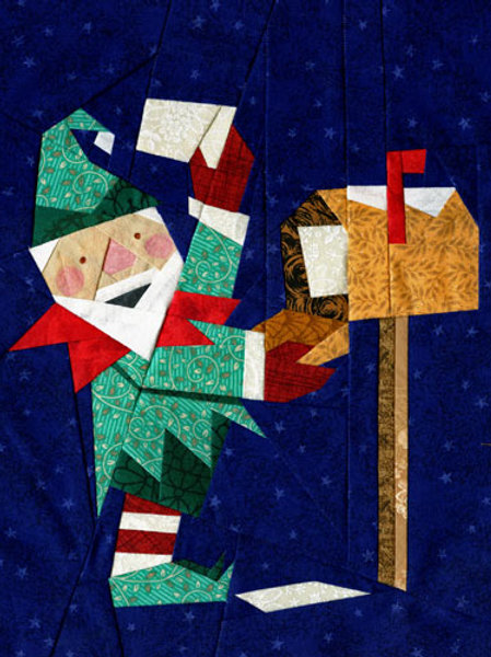 Elfie Gets the Mail Paper-pieced Quilt Pattern by Paper Panache