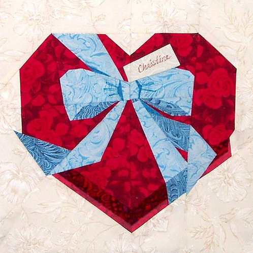 (Heart-shaped) Box of Chocolates Paper-pieced Quilt Pattern by Paper Panache