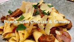 PENNE WITH CHORIZO & TOMATO