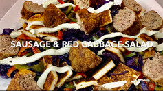 MINT SAUSAGES AND RED CABBAGE SALAD