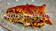 GRECO BEEF MANICOTTI