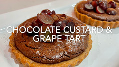 CHOCOLATE CUSTARD & GRAPE TARTS