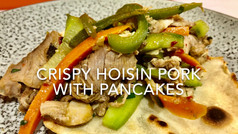 CRISPY HOISIN PORK WITH PANCAKES