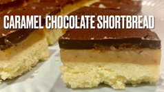 CARAMEL CHOCOLATE SHORTBREAD
