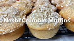 NASHI CRUMBLE MUFFINS *pear*
