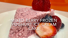 MIXED BERRY FROZEN YOGHURT ICE CREAM CAKE