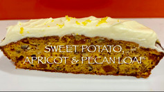 SWEET POTATO, APRICOT & PECAN LOAF
