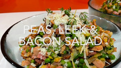 PEAS, LEEK & BACON SALAD