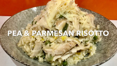 PEA & PARMESAN RISOTTO (with chicken)