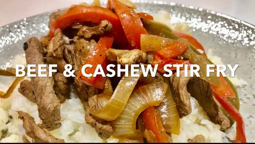 BEEF & CASHEW STIR-FRY