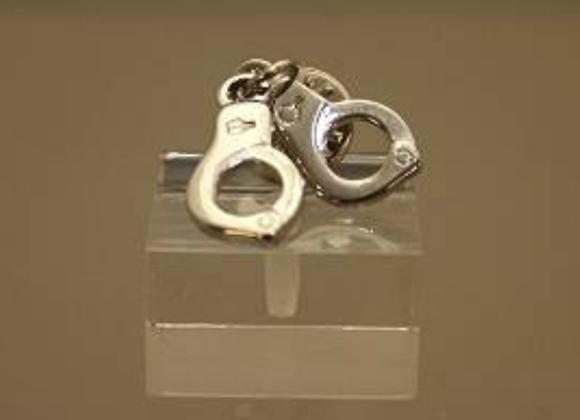 Silver Handcuffs Tie Pin