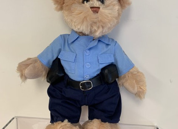 Blue Police Teddy