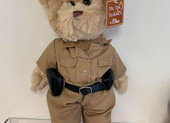 Khaki Police Teddy