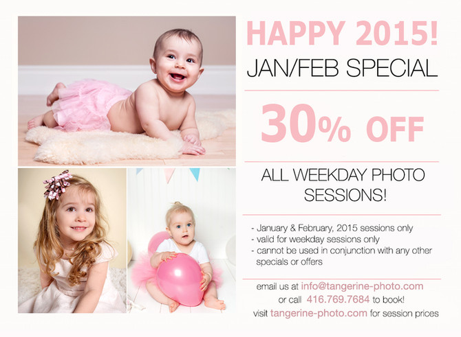 New Years Special! 30% OFF all photo sessions!