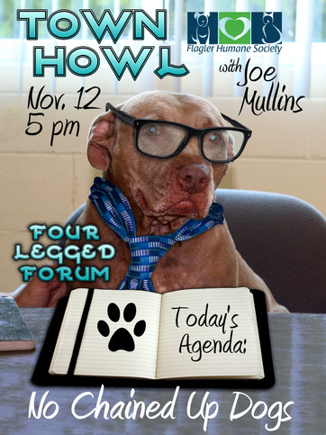 Flagler Humane Society - Town Howl 11/12/19 at 5pm - Topic: Anti-tethering for Flagler County