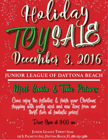 Junior League Toy Sale 12/03/16